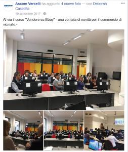 Presentazione FB corso eBay Vercelli